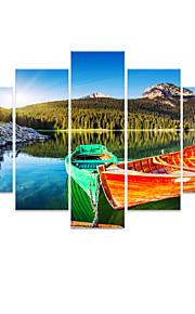 star®boat visuel sur le paysage maritime naturelle toile ensemble de 5 toile de haute qualité d'impression prêt à accrocher
