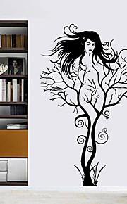 parete adesivi muro stile decalcomanie adesivi murali in pvc nuova ragazza ramo di un albero