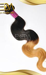 хороший дешевый перуанский девственница человека волос на теле волны волос Ombre ткет только 8 '2 тон 1b / 27 цвет 1шт' - 30 ''