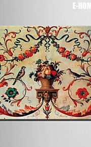 e-home® strukket lerret kunst fugler og blomster dekormaling ett stk