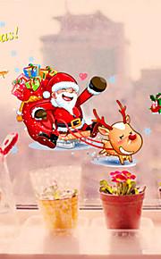 decorazione Babbo Natale adesivi murali in pvc di natale