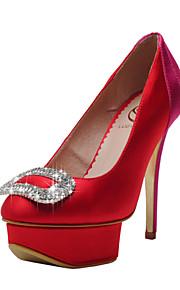 Chaussures de mariage - Rouge - Mariage / Habillé / Soirée & Evénement - Talons / A Plateau / Bout Fermé - Talons - Homme