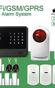 gs-g90b woord menu gsm + wifi alarm aystem support ip camera, smart home accessoire gassensor