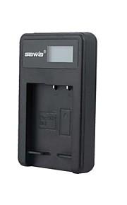 camera acculader met het scherm voor Sony NP - BG1 zwart