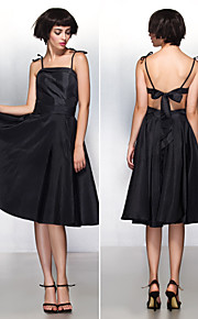 TS Couture® Cocktail Party Dress A-line Spaghetti Straps Knee-length Taffeta with Bow(s)