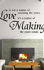 amour autocollants murale de style de décalques de mur faisant des mots anglais&cite muraux PVC autocollants