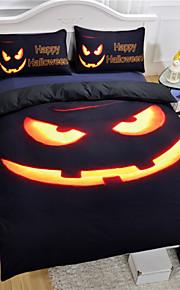 edredons novos do partido da abóbora marca de cama preto halloween definir vivas set 3pcs ou 4pcs folha de impressão 3D gêmeo rainha rei