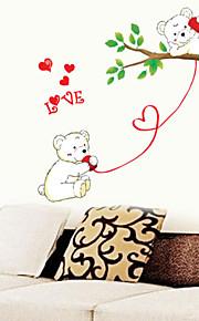 아름다운 사랑 곰 어린이 방 평면 벽 스티커 벽 장식, PVC 이동식
