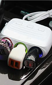 sigaretta uscita adattatore di alimentazione presa accendisigari 120w 3 doppio dell'automobile del USB port presa accendisigari