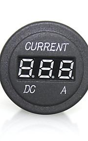 høj kvalitet digital førte rødt lys indikator amperemeter til 12 / 24v auto bil motorcykel måling panel plug socket