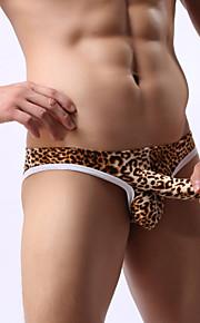 Leopard grain briefs Men's Fabric Mens Underwear Men's sexy JJ briefs