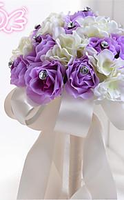 Purple Round Peonies Bouquets Wedding Flowers