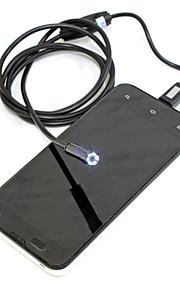 6 levou lente 7 milímetros endoscópio android inspecção impermeável câmera de tubo boroscópio