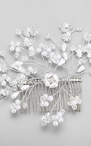 Celada Peinetas Boda / Ocasión especial Cristal / Aleación / Perla Artificial Mujer / Niña de flor Boda / Ocasión especial 1 Pieza