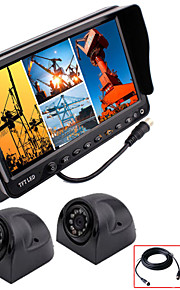 renepai® 7 inch 4 in1 hd-monitor + bus hd auto achteruitrijcamera waterdichte camera video recorder (ondersteuning 32gb) 9V ~ 36V