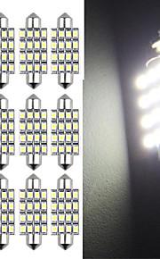 10 42mm 16 SMD LED hvid bil dome guirlande interiør pære