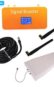 New LCD Display 3G 2100MHz Mobile Phone Signal Booster with Whip and Log Periodic Antenna Kit Coverage 500m²