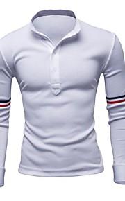 Acryl / Katoen / Polyester - Effen - Heren - Polo - Informeel / Werk / Formeel / Sport / Grote maten - Lange mouw