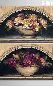 Botanisk Lerret Print To paneler Klar til å henge , Lodrett