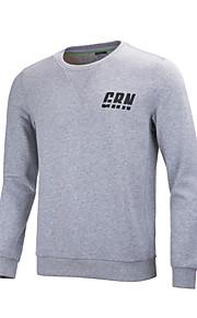 GRN® Men's Long Sleeve Hoodie & Sweatshirt , Cotton / Polyester Pure