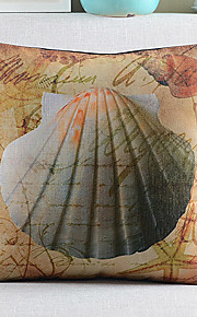 Romance Shell Cotton/Linen Decorative Pillow Cover