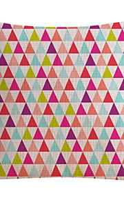 Colorful Pattern Cotton/Linen Decorative Pillow Cover