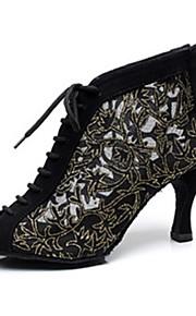 Zapatos de baile ( Negro / Azul ) - Danza latina - No Personalizable - Tacón Luis XV