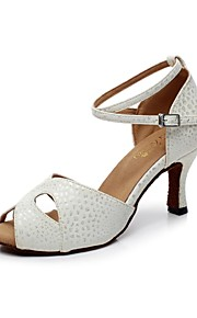Zapatos de baile ( Blanco ) - Danza latina - No Personalizable - Tacón Luis XV