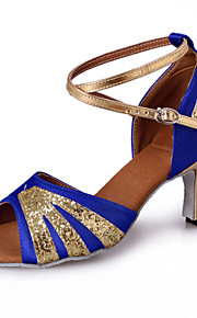 Zapatos de baile ( Azul ) - Danza latina / Dance Sneakers / Salsa / Samba - Personalizados - Tacón Luis XV