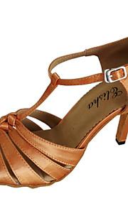 Zapatos de baile ( Marrón ) - Danza latina / Salsa - Personalizados - Tacón Personalizado