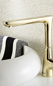 Kolmiosainen Yksi kahva yksi reikä in Ti-PVD Kylpyhuone Sink hana