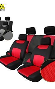 tirol t22507 transpirable cobertura universal asiento de coche gris negro / 10pcs rojos fundas para asientos de sedanes crossover suv