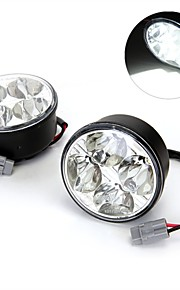 2 * 4w high power wit 4 led auto DRL overdag daglicht loopt mistlamp lamp