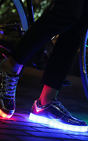 Colorful LED Lights Shoes Men's Fashion Sneakers Silver / Gold