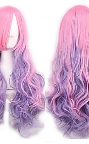 Japanin Harajuku kaltevuus violetti peruukki tukka cos peruukki