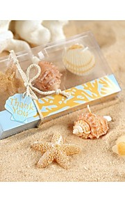 Beach Themed Starfish and seashells candles set Party Souvenir, Baby Shower Favors