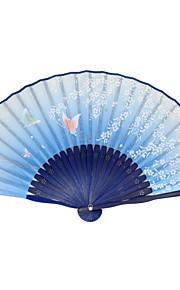 Silk Fans and parasols - 1 Piece/Set Hand Fans Garden Theme / Asian Theme / Floral Theme / Butterfly Theme Green / Blue
