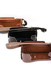 dengpin pu læder halv kamerataske taske dække bunden til Fujifilm x-E1 x-e2 XE1 XE2 (assorterede farver)