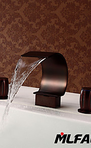 Mlfalls Brands Waterfall Oil Rubbed Bronze Bathroom Basin Or Tub Faucet
