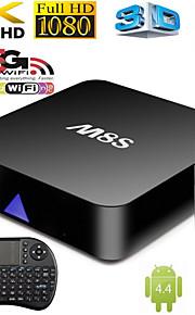 nuove m8s quad core tv box android4.4 intelligente xbmc pieno carico tastiera wireless +