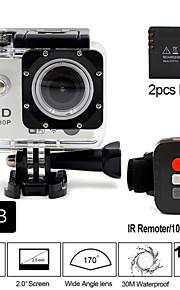 Sportskamera 2 12MP 1920 x 1080 CMOS 32 GB H.264Kinesisk / Japansk / Engelsk / Tysk / Italiensk / Russisk / Tyrkisk / Hollandsk / Fransk