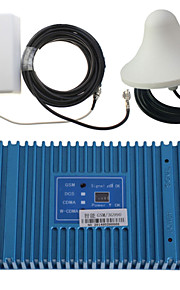intelligens dual band GSM / 3G 900 / 2100MHz mobiltelefon signal repeater booster forstærker + udendørs panel antenne kit