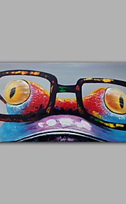 iarts®cute漫画のカエルの顔whosale価格を塗る伸ばし、大きなガラスカラフルなアクリル手作りを着用
