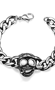 Skeleton Personality Retro Men's Stainless Steel Bracelet