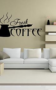 4078 New Arrival Beautiful Design Coffee Cups Cafe Tea Wall Stickers Art Vinyl Decal Kitchen Restaurant Pub Decor
