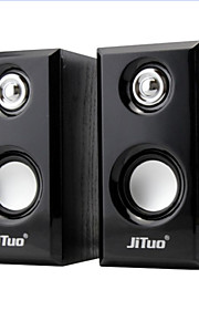 jituo jt2803 draagbare usb aangedreven 2.0-kanaals stereo multimedia computer speakers jt2803yx