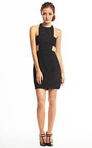 TS Couture® Cocktail Party Dress Sheath / Column Halter Short / Mini Sequined / Polyester with Sequins