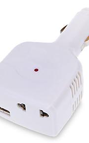 adapter USB-oplader voor in de auto DC12V - 24v naar 220v voor mobiele telefoons