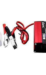 auvic 200w 12v a 220v inversor de potencia del inversor del coche con la batería de almacenamiento de energía solar del USB