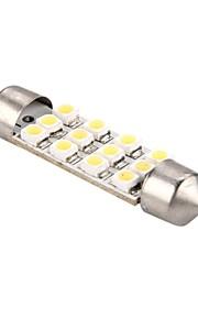 leidde auto-interieur licht 12v witte 3528smd 12 leds autobol koepel slinger lamp 41mm (2 stuks)